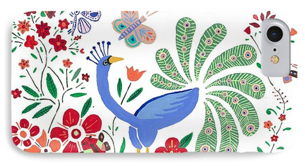 Peacock Bob IPhone Case by Artists With Autism Inc
