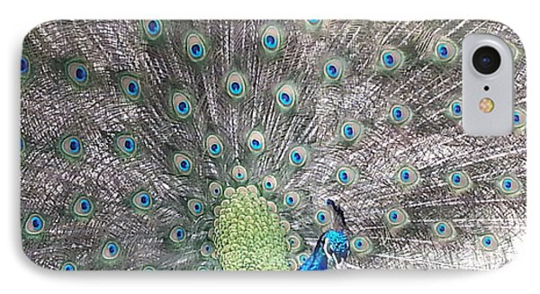 IPhone Case featuring the photograph Peacock Bow by Caryl J Bohn