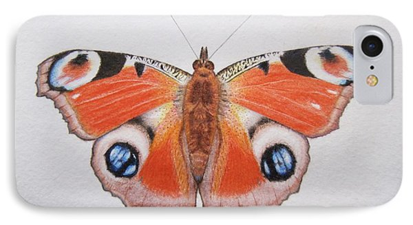 Peacock Butterfly IPhone Case by Ele Grafton