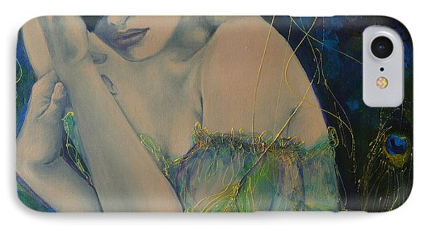 Peacock Enigma IPhone Case by Dorina  Costras