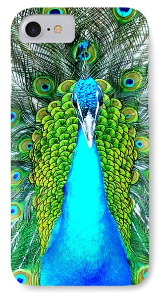 Peacock Face On IPhone Case by Heidi Manly