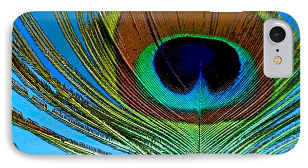 Peacock Feather 3 IPhone Case by Sally Simon