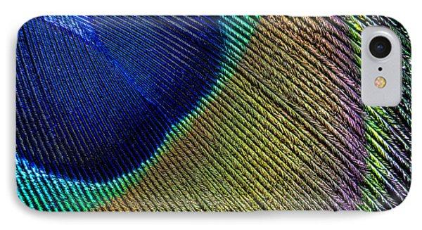 Peacock Feather Macro IPhone Case