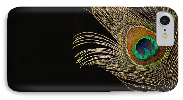 IPhone Case featuring the photograph Peacock Feather Still Life by Lisa Knechtel