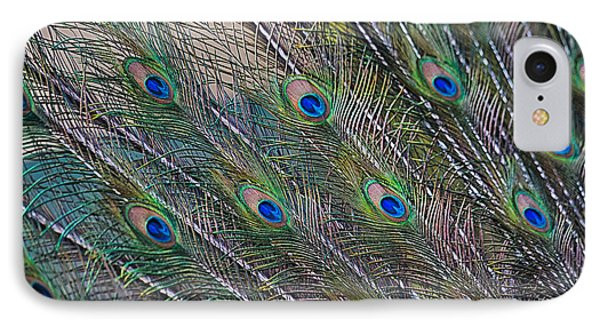 Peacock Feathers Abstract Phone Case by Eti Reid