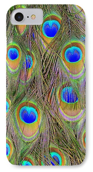IPhone Case featuring the photograph Peacock Feathers by Ramona Johnston