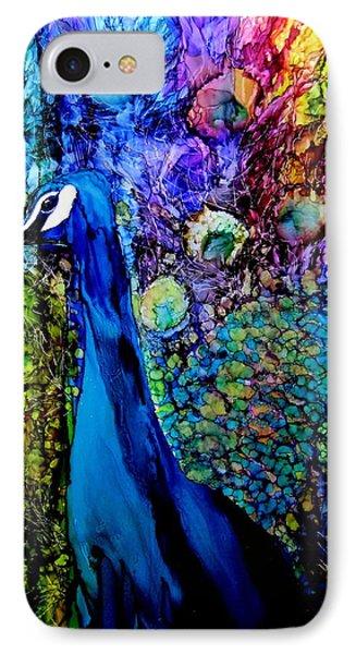 Peacock II IPhone Case by Karen Walker