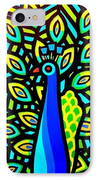 Peacock Iv Phone Case by John  Nolan