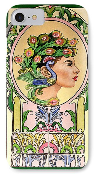 Peacock Lady IPhone Case by Lamarr Kramer