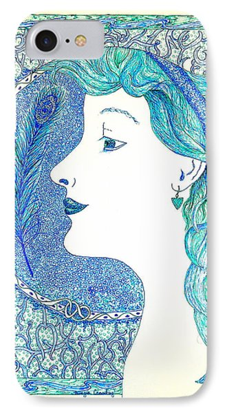 Peacock Lady IPhone Case