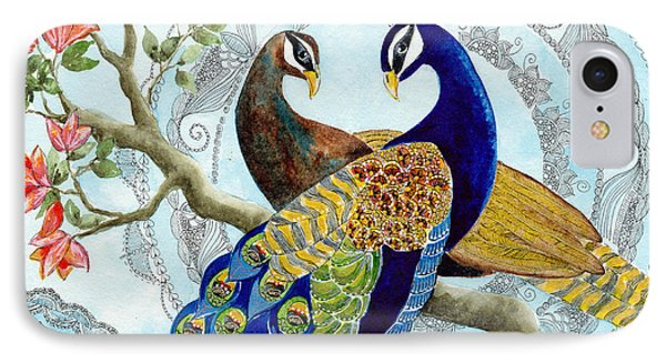 Peacock Love IPhone Case by Susy Soulies
