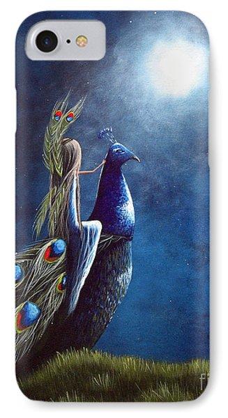 Peacock Princess II By Shawna Erback IPhone Case by Shawna Erback
