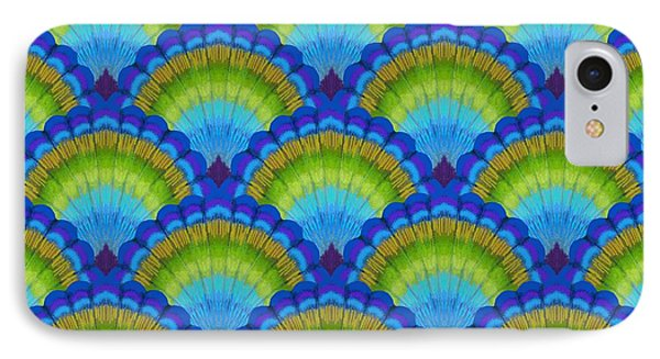 Peacock Scallop Feathers IPhone Case