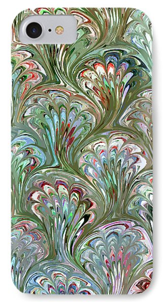 Peacock Shell Pattern Abstract Phone Case by Karon Melillo DeVega