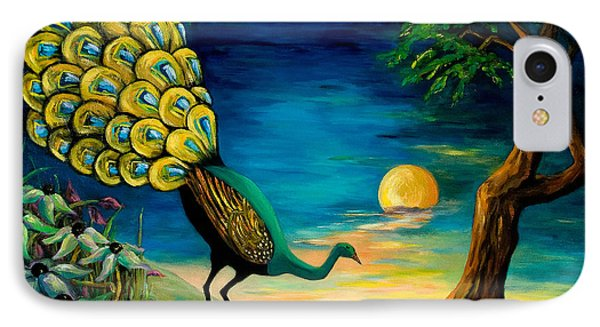 Peacock Strolls On The Beach Phone Case by Larry Martin