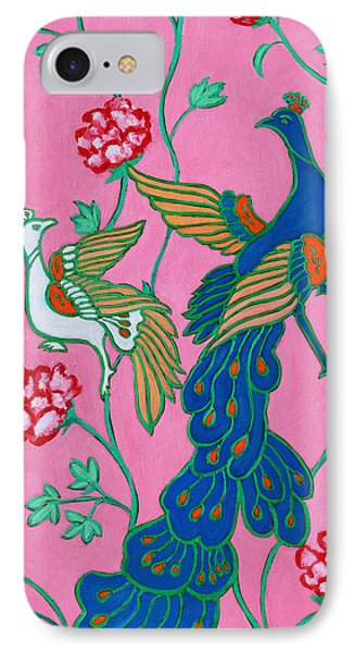 Peacocks Flying Southeast IPhone Case by Xueling Zou