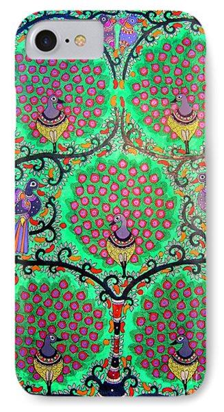 Peacocks-madhubani Painting IPhone Case