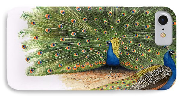Peacocks IPhone 7 Case by RB Davis