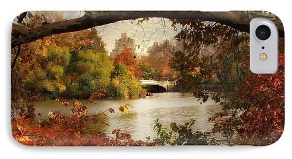 Peak Autumn In Central Park IPhone Case