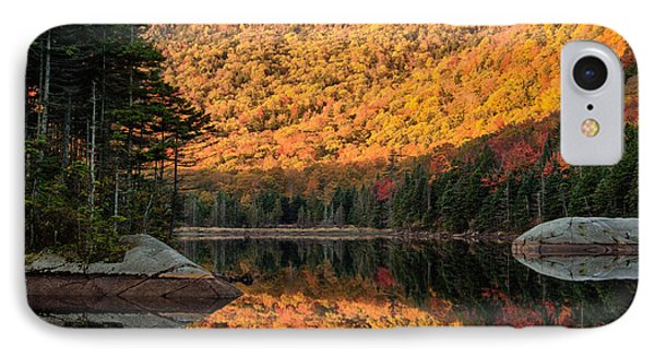 IPhone Case featuring the photograph Peak Fall Foliage On Beaver Pond by Jeff Folger