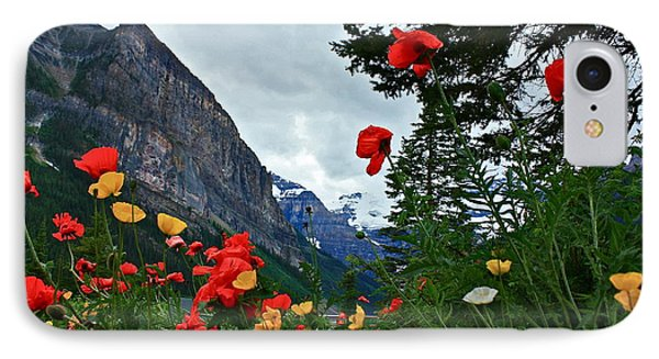 Peaks And Poppies IPhone Case by Linda Bianic
