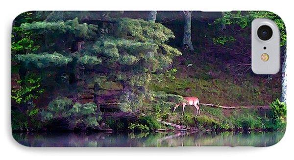 IPhone Case featuring the painting Peaks Of Otter Deer by John Haldane