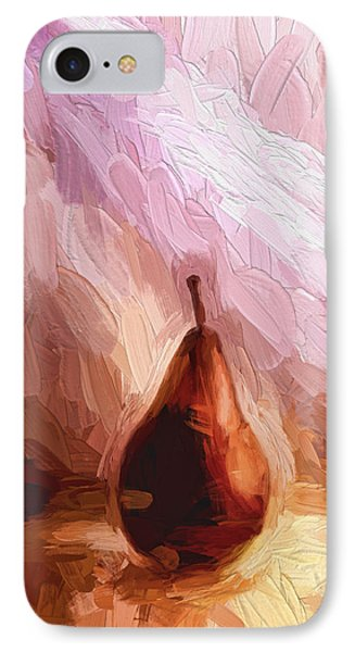 Pear And Light Rays Painterly Effect IPhone Case
