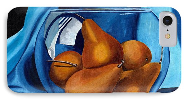 IPhone Case featuring the painting Pear Anyone by Laura Forde