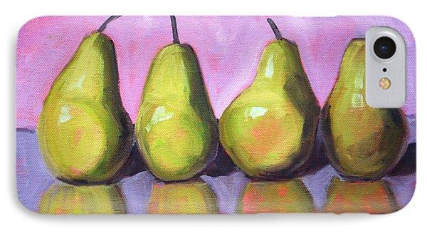 Pear Line IPhone Case by Nancy Merkle