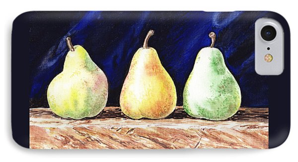 Pear Pear And A Pear IPhone Case by Irina Sztukowski
