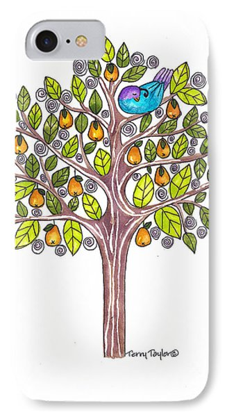 IPhone Case featuring the painting Pear Tree by Terry Taylor