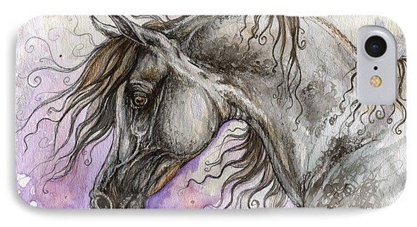 Pearl Arabian Horse Phone Case by Angel  Tarantella