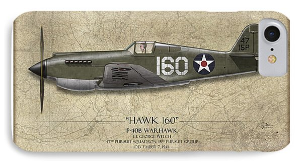 Pearl Harbor P-40 Warhawk - Map Background IPhone Case