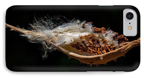 Pearl Milkweed Pod Split Open IPhone Case