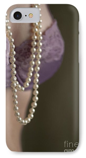 Pearl Necklace Phone Case by Lee Avison