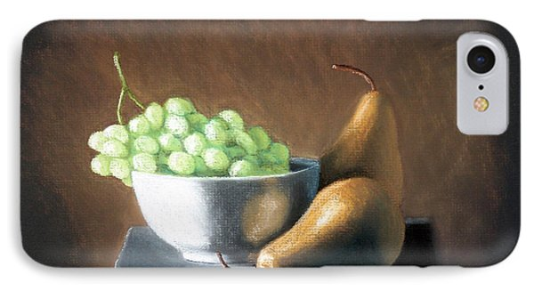 IPhone Case featuring the painting Pears And Grapes by Joseph Ogle