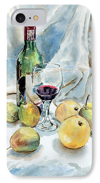 Pears And Wine IPhone Case by Joey Agbayani