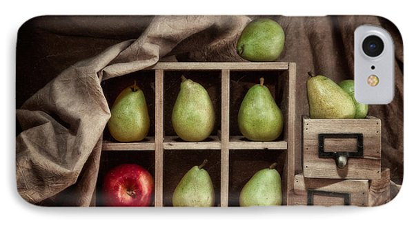 Pears On Display Still Life IPhone 7 Case by Tom Mc Nemar