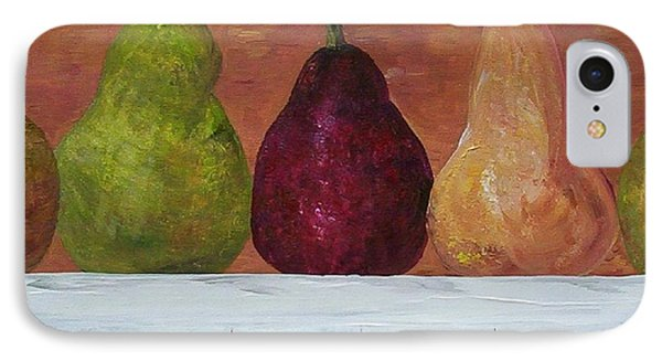 IPhone Case featuring the painting Pears On Parade   by Eloise Schneider