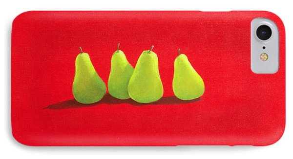 Pears On Red Cloth Phone Case by Lincoln Seligman