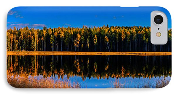IPhone Case featuring the photograph Peavine Pond Panorama by Rob Tullis