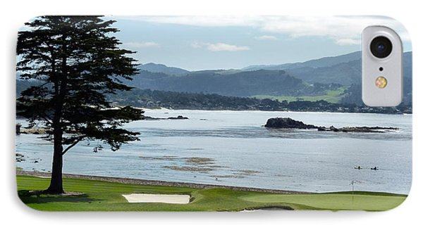 Pebble Beach 18th Green Carmel  IPhone Case by Jeff Lowe