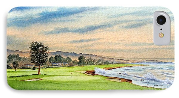 Pebble Beach Golf Course 18th Hole IPhone Case by Bill Holkham