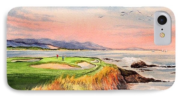 Pebble Beach Golf Course Hole 7 IPhone Case