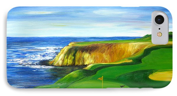 IPhone Case featuring the painting Pebble Beach Golf Course by Sheri  Chakamian