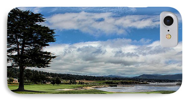 Pebble Beach - The 18th Hole IPhone Case by Judy Vincent