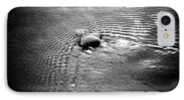Pebble In The Water Monochrome Phone Case by Raimond Klavins