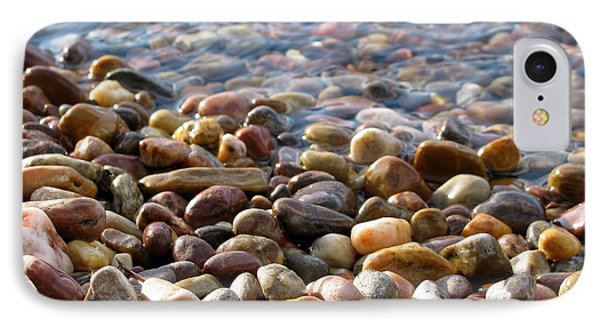 Pebbles On The Shore Phone Case by Leone Lund