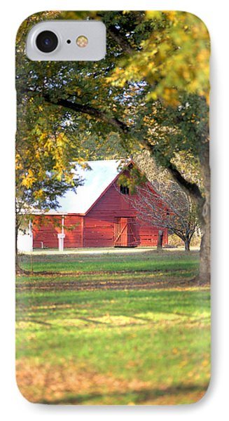 IPhone Case featuring the photograph Pecan Orchard Barn by Gordon Elwell