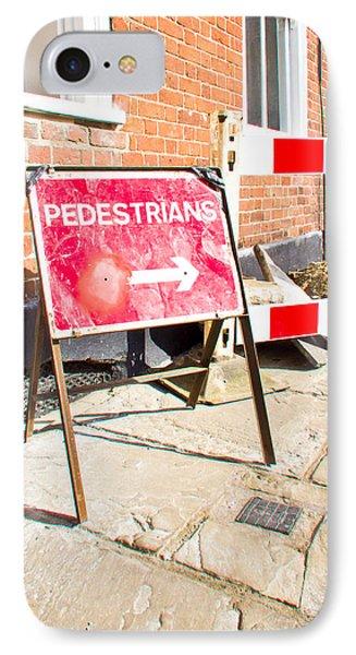 Pedestrian Sign IPhone Case